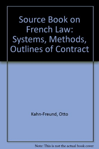 9780198253495: A Source-Book on French Law: System, Methods, Outlines of Contract