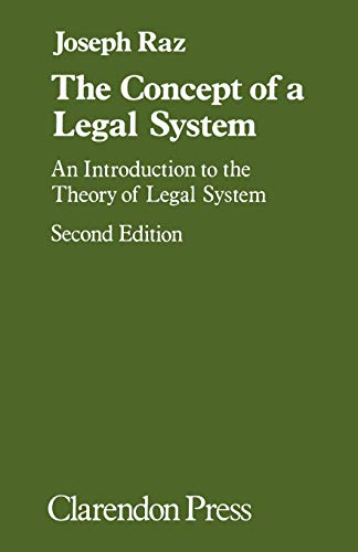9780198253631: The Concept of a Legal System: An Introduction to the Theory of the Legal System
