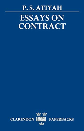 9780198254447: Essays on Contract (Clarendon Paperbacks)