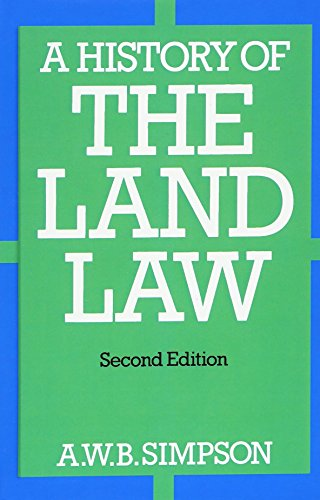 9780198255376: A History of the Land Law