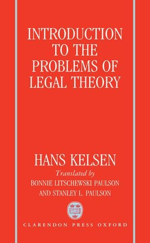 9780198255680: Introduction to the Problems of Legal Theory: A Translation of the First Edition of the Reine Rechtslehre or Pure Theory of Law