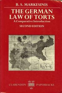 9780198256267: A Comparative Introduction to the German Law of Torts