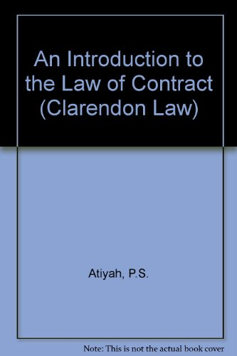 9780198256328: An Introduction to the Law of Contract
