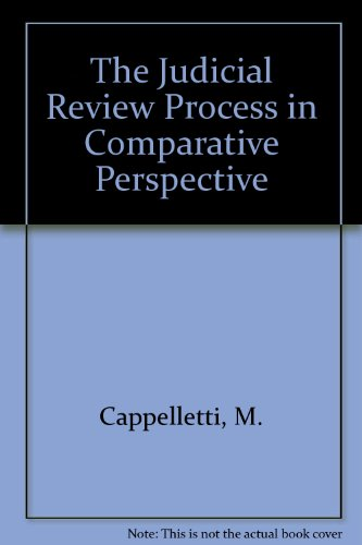 9780198256342: The Judicial Process in Comparative Perspective