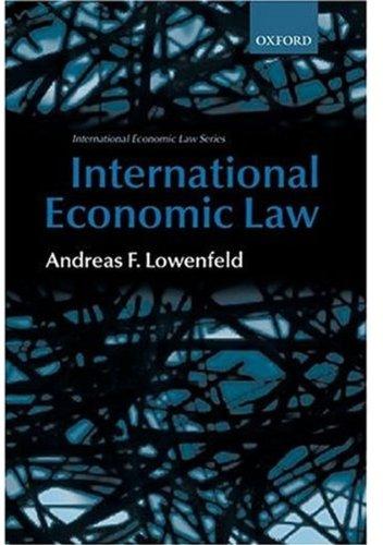 9780198256670: International Economic Law (International Economic Law Series (Oxford, England).)
