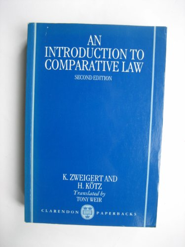 9780198257783: An Introduction to Comparative Law