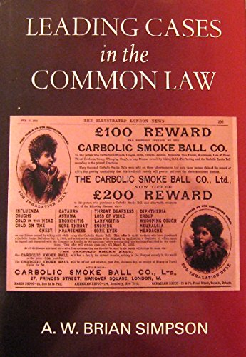 9780198258520: Leading Cases in the Common Law