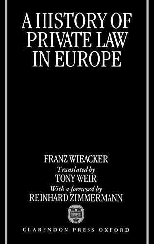 9780198258612: A History of Private Law in Europe
