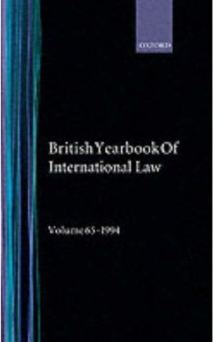 9780198258810: The British Year Book of International Law 1994: Sixty-Fifth Year of Issue Volume 65
