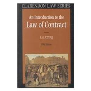 9780198259534: An Introduction to the Law of Contract