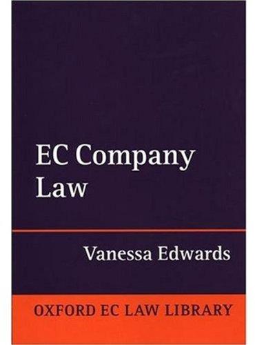 9780198259930: EC Company Law (Oxford European Community Law Library)