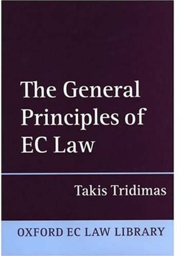 9780198260127: The General Principles of EC Law (Oxford European Community Law Library)