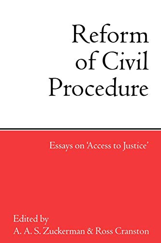 9780198260936: The Reform of Civil Procedure: Essays on `Access to Justice'
