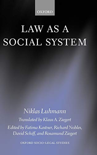 9780198262381: Law as a Social System (Oxford Socio-Legal Studies)