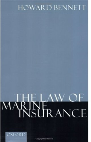 9780198262442: The Law of Marine Insurance