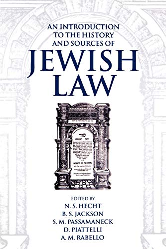 9780198262626: An Introduction to the History and Sources of Jewish Law