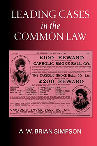 9780198262992: Leading Cases in the Common Law
