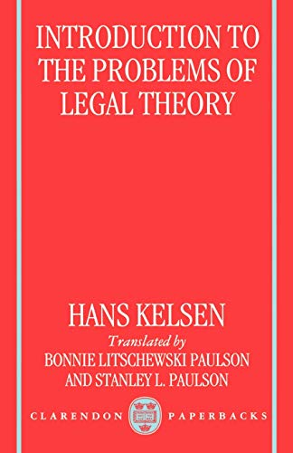 9780198265658: Introduction to the Problems of Legal Theory: A Translation of the First Edition of the Reine Rechtslehre or Pure Theory of Law