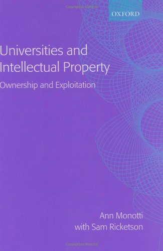 9780198265948: Universities and Intellectual Property: Ownership and Exploitation