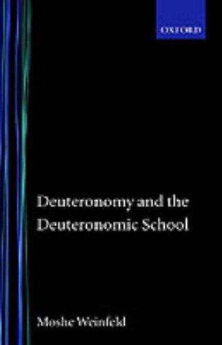 9780198266266: Deuteronomy and the Deuteronomic school