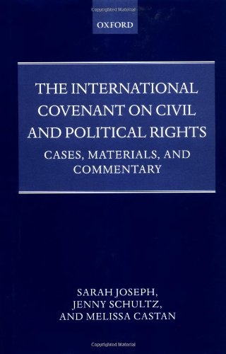 9780198267744: The International Covenant on Civil and Political Rights: Cases, Materials, and Commentary