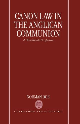 9780198267829: Canon Law in the Anglican Communion: A Worldwide Perspective