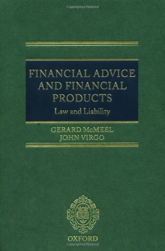 9780198268239: Financial Advice and Financial Products: Law and Liability