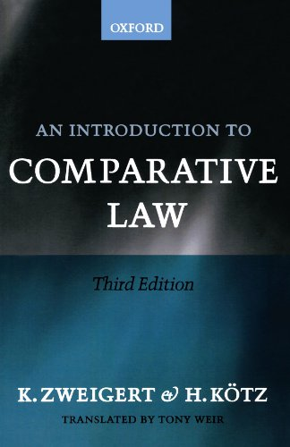 An Introduction to Comparative Law: Koetz, Hein, Zweigert,