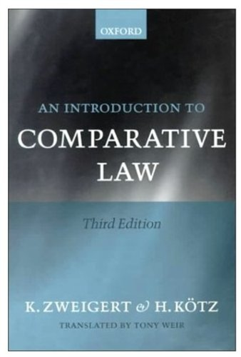 9780198268604: Introduction to Comparative Law