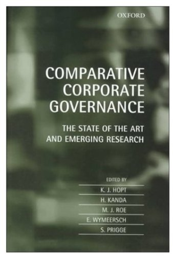 9780198268888: Comparative Corporate Governance: The State of the Art and Emerging Research