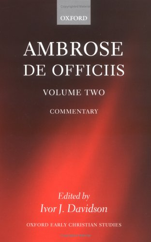 9780198270249: Ambrose: De Officiis: vol 2