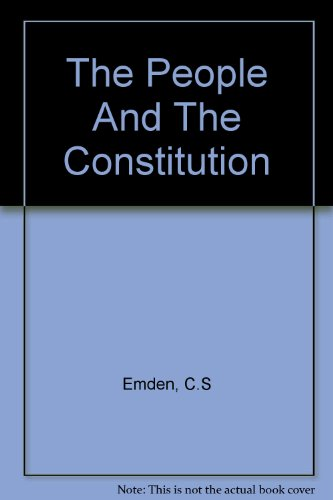 9780198271130: People and Constitution