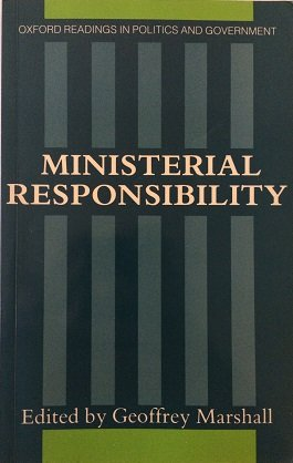 9780198275794: Ministerial Responsibility (Oxford Readings in Politics and Government)