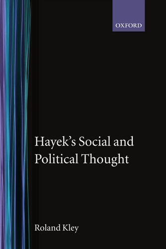 9780198279167: Hayek's Social and Political Thought