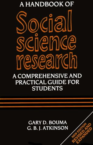 A Handbook of Social Science Research: Gary D. Bouma,