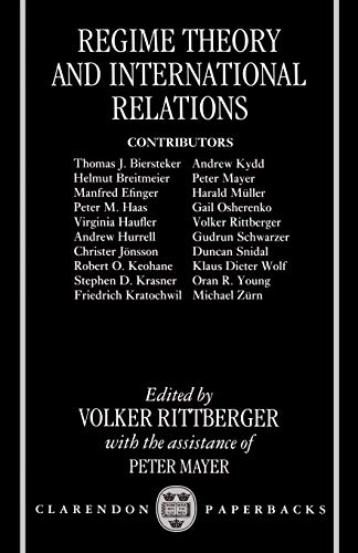 9780198280293: Regime Theory and International Relations (Clarendon Paperbacks)