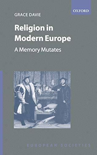 9780198280651: Religion in Modern Europe: A Memory Mutates