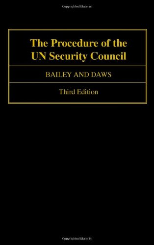 9780198280736: The Procedure of the UN Security Council