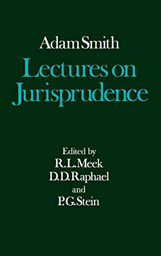 9780198281887: The Glasgow Edition of the Works and Correspondence of Adam Smith: V: Lectures on Jurisprudence