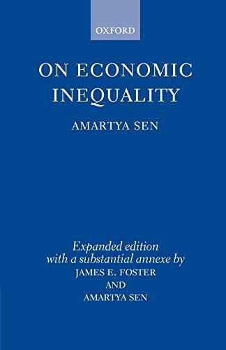 On Economic Inequality: Sen, Amartya