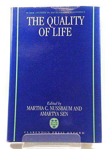 9780198283959: The Quality of Life (WIDER Studies in Development Economics)