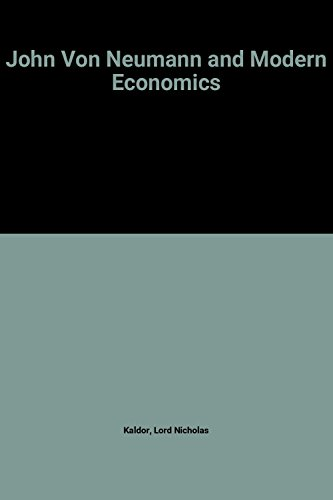 9780198285540: John Von Neumann and Modern Economics