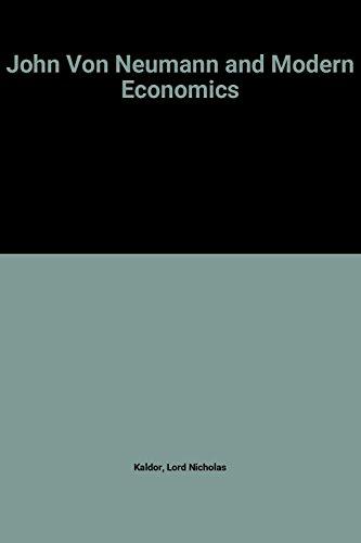 9780198285540: John von Neumann and Modern Economics