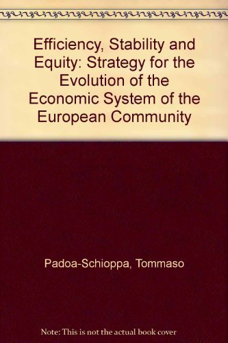 9780198286295: Efficiency, Stability and Equity: Strategy for the Evolution of the Economic System of the European Community