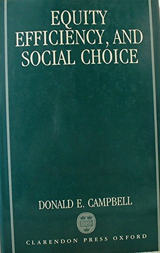 9780198287087: Equity, Efficiency, and Social Choice