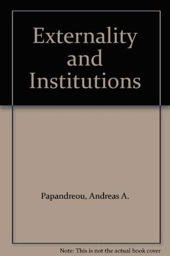 9780198287759: Externality and Institutions