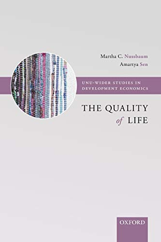 9780198287971: The Quality of Life (WIDER Studies in Development Economics)