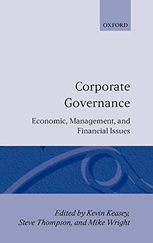 9780198289906: Corporate Governance: Economic and Financial Issues