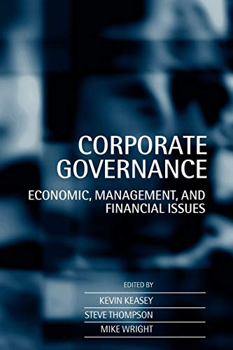 9780198289913: Corporate Governance: Economic and Financial Issues