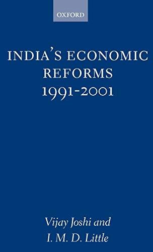 India's Economic Reforms, 1991-2001: V. Joshi